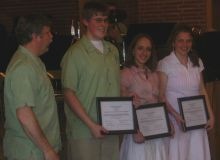 Winners of the Black River Area Community Band Scholarships for 2008